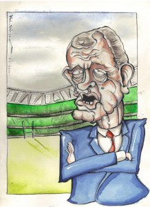 This is my take on Brian McLaughlin who led Ulster to the final of the 2012 Heineken Cup.