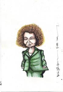 This is my pen & ink interpretation of the Northern Ireland culture minister, Carál Ní Chuilín MLA.