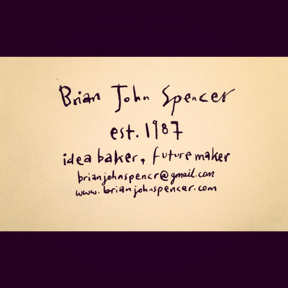 Hand Drawn Business Card - Brian John SpencerBrian John Spencer